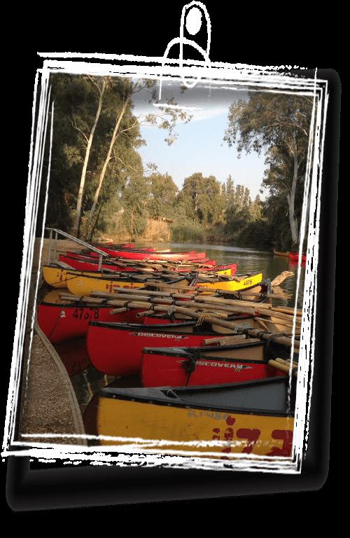 rob roy boats in jordan river in israel